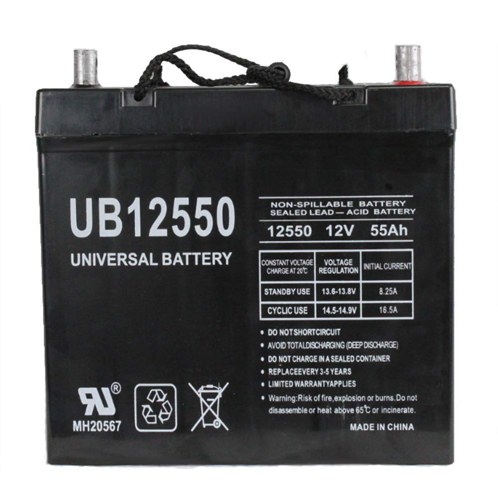 Universal Power Group UB12550 45825 12V 55AH 22NF Battery Scooter Wheelchair Mobility