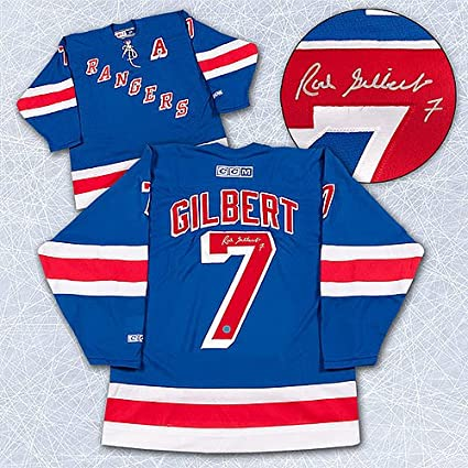 info for 00c13 a0e89 Rod Gilbert New York Rangers Autographed Retro CCM Vintage ...