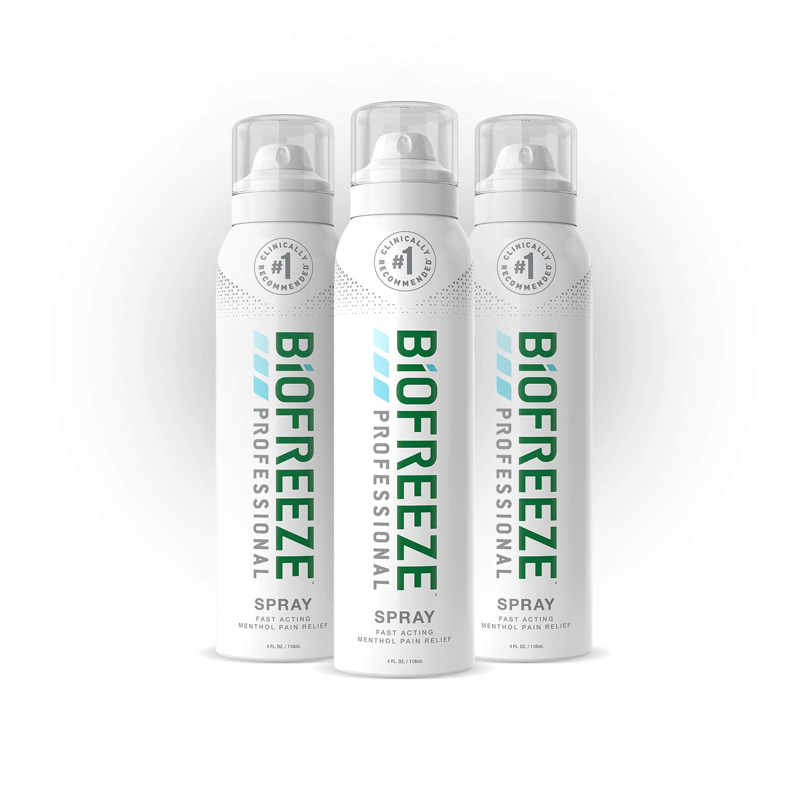 Biofreeze Professional Pain Relief Spray, 4 oz. Aerosol Spray, Colorless, Pack of 3 by Biofreeze