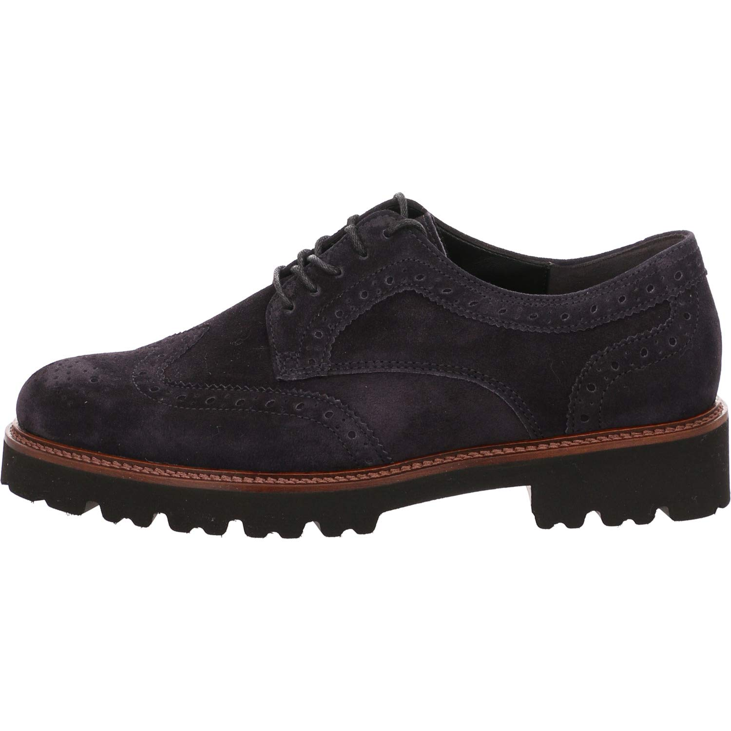 Navy Navy Suede Gabor Chunky Lace Up Sweep - 91.464  achats de mode en ligne