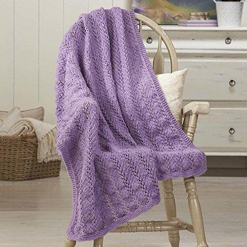 Herrschners® Violet Fern Knit Afghan Kit by Herrschners®