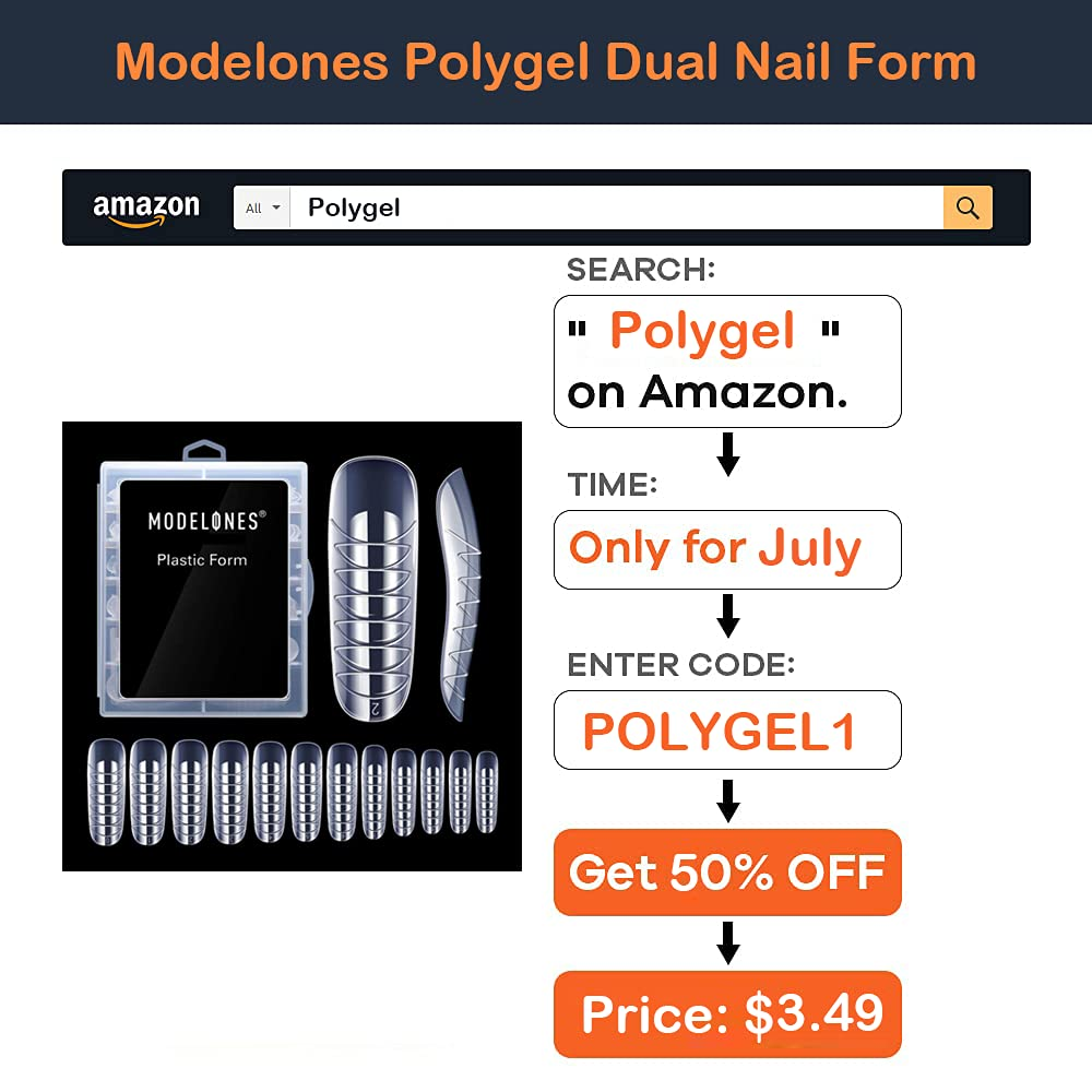 Modelones Poly Nail Gel Kit 30ml 2PCS With Slip Solution Extension Builder Enhancement Professional Starter Kit All-in-One Nail Technician French Kit