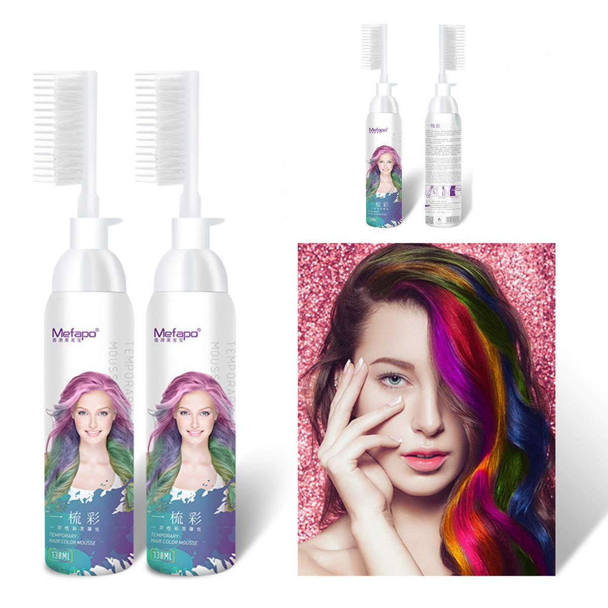Mefapo 2018 New Hair Color Comb Temporary Disposable Color Hair