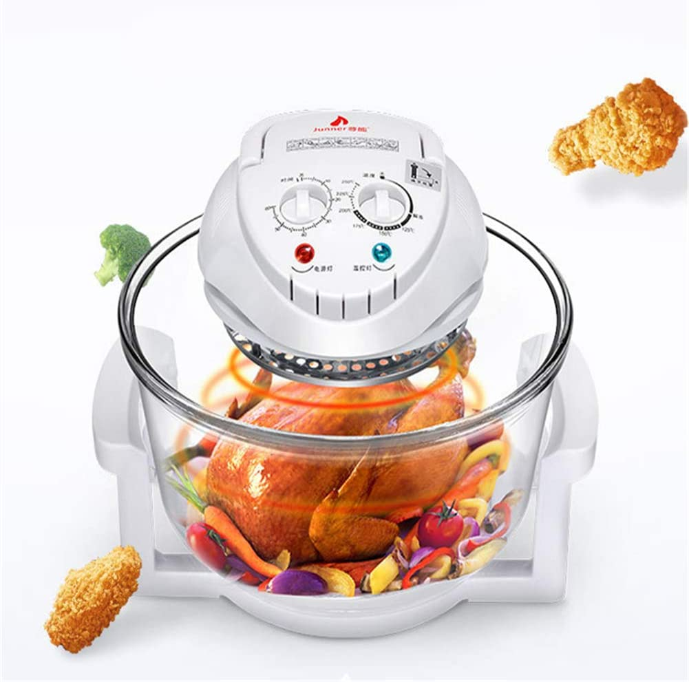 XYZZ 12L Halogen Convection Oven with Handle, Air Fryer, Compact and Powerful Table Design, Save Time and Energy, Safe and Healthy, Easy to Operate