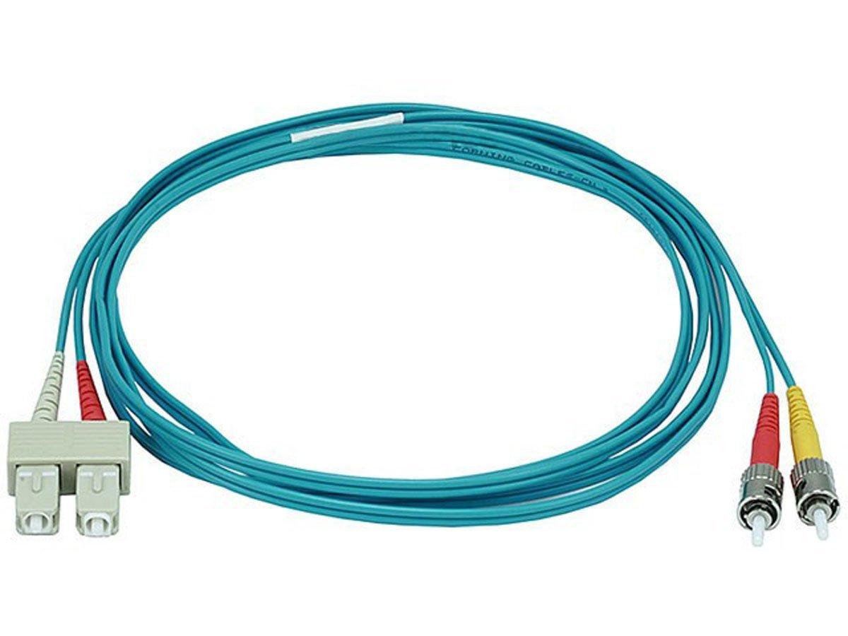 Monoprice 106406 2-Meters ST/SC Multi Mode Duplex 10GB Fiber Optic Cable - Aqua