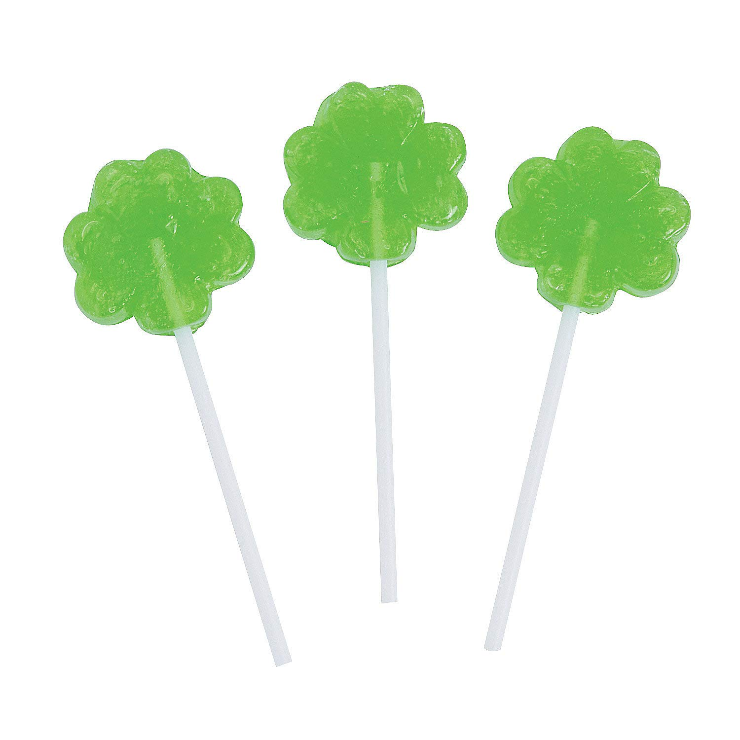 Mini Shamrock Suckers for St. Patrick's Day by Fun Express - Suckers & Lollipops - 57 Pieces
