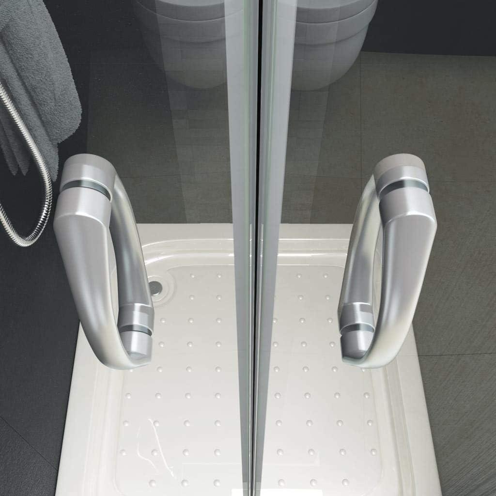 Festnight Portes de Cabine de Douche Paroi de Douche ESG 75x185 cm