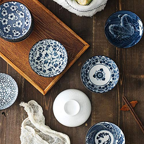 YLee Ceramic Bowl Bone China Cutlery Set Jingdezhen Tableware Chinese Blue and White Porcelain Tableware Kitchen Dining Supplies,C by YLee (Image #5)