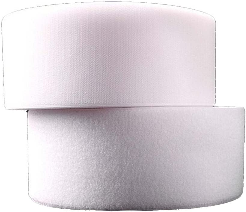 Ancho 50 cm//100 cm//150 cm gancho /& Loop cinta rollo 1 m gancho /& 1 m bucle 50CM x 1 Meter//Pair blanco