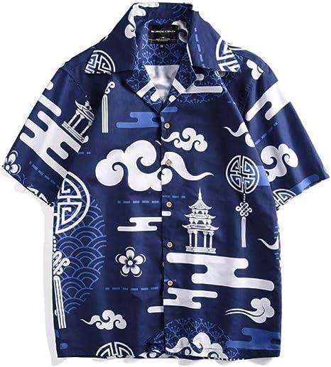 XJWDTX Camisa De Verano Camisa De Manga Corta Casual Pareja Vacaciones En 3D Camisa De Moda Beach Beach Island: Amazon.es: Deportes y aire libre