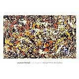 (28x40) Jackson Pollock Convergence Art Print Poster