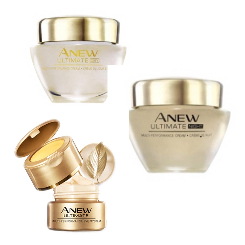 Set Avon Anew Ultimate Multi-Performance 1x Tagescreme 50ml 1x Nachtcreme 50ml und 1x Augenpflege 15ml für die reife Haut.