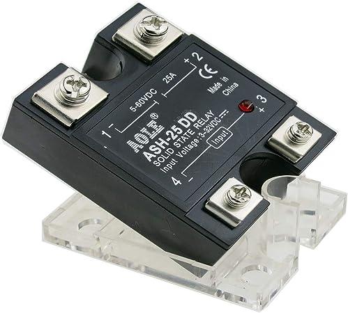 TWTADE SSR-40 DD 40A DC 3-32V a DC 5-60V SSR Rel/é de estado s/ólido Fregadero de calor