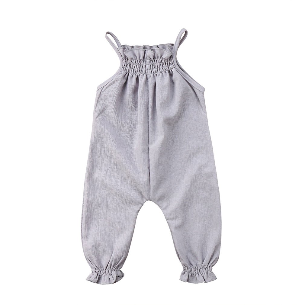 f647f82c6bf Amazon.com  VADOLY New Cute Toddler Infant Newborn Baby Girls Clothes Strap Romper  Jumpsuit Playsuit Overall Sleeveless Summer Sunsuit  Clothing