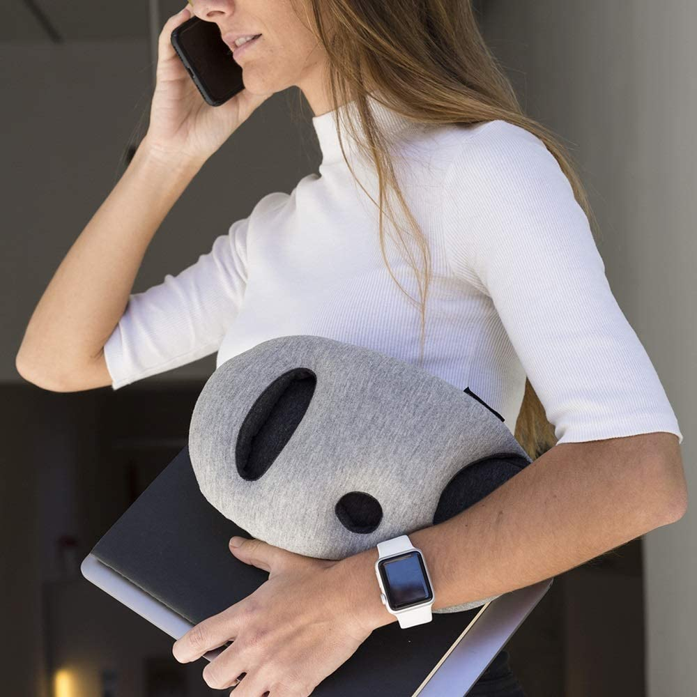 Power Nap on Flight and Desk Blue Reef OSTRICH PILLOW Mini Travel Pillow for Airplane Head Support Travel Accessories for Hand and Arm Rest
