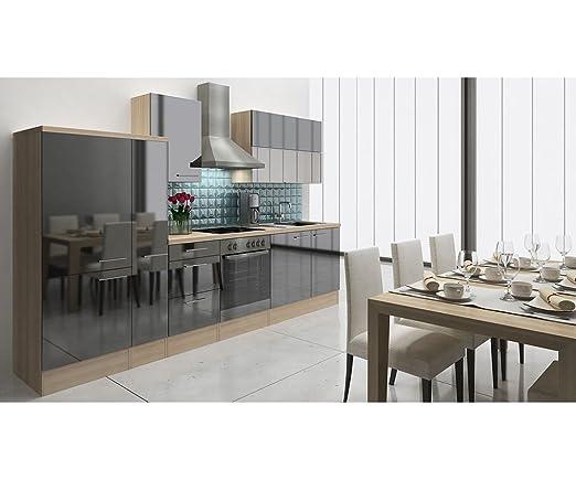 respekta Premium Instalación de Cocina Cocina 310 cm Acacia ...