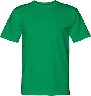 product image for Bayside Men's American Pride Crewneck T-Shirt, IRISH GREEN, Large