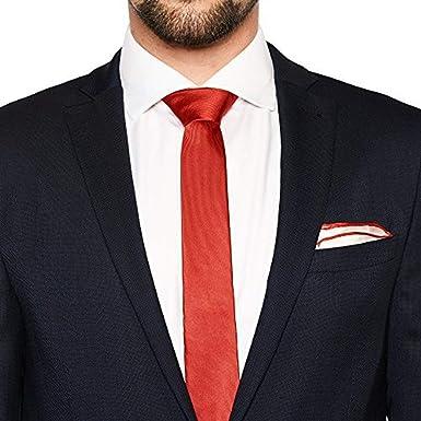 von Floerke® Set de corbata y pañuelo para combinar – rojo, rojo ...