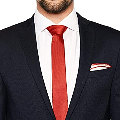 von Floerke® Set de corbata y pañuelo para combinar - rojo, rojo ...