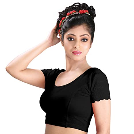 Abhi Women's Cotton Blouse.p Women's Saree Blouses at amazon