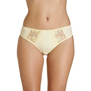 Camille Womens Ladies Lemon Yellow Jessica Lace Underwear Briefs Panties  6-16 6 YELLOW 556ffaa04