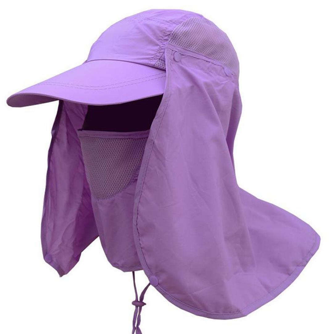 Vcenty Sun Hat Unisex Headwear Extreme Condition Summer Outdoor Sun Protection Neck Face Flap Hat Wide Brim