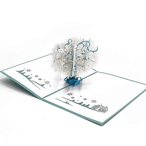 Amazon.com: LHOME Tarjeta 3D Pop Up, Tarjeta de felicitación ...