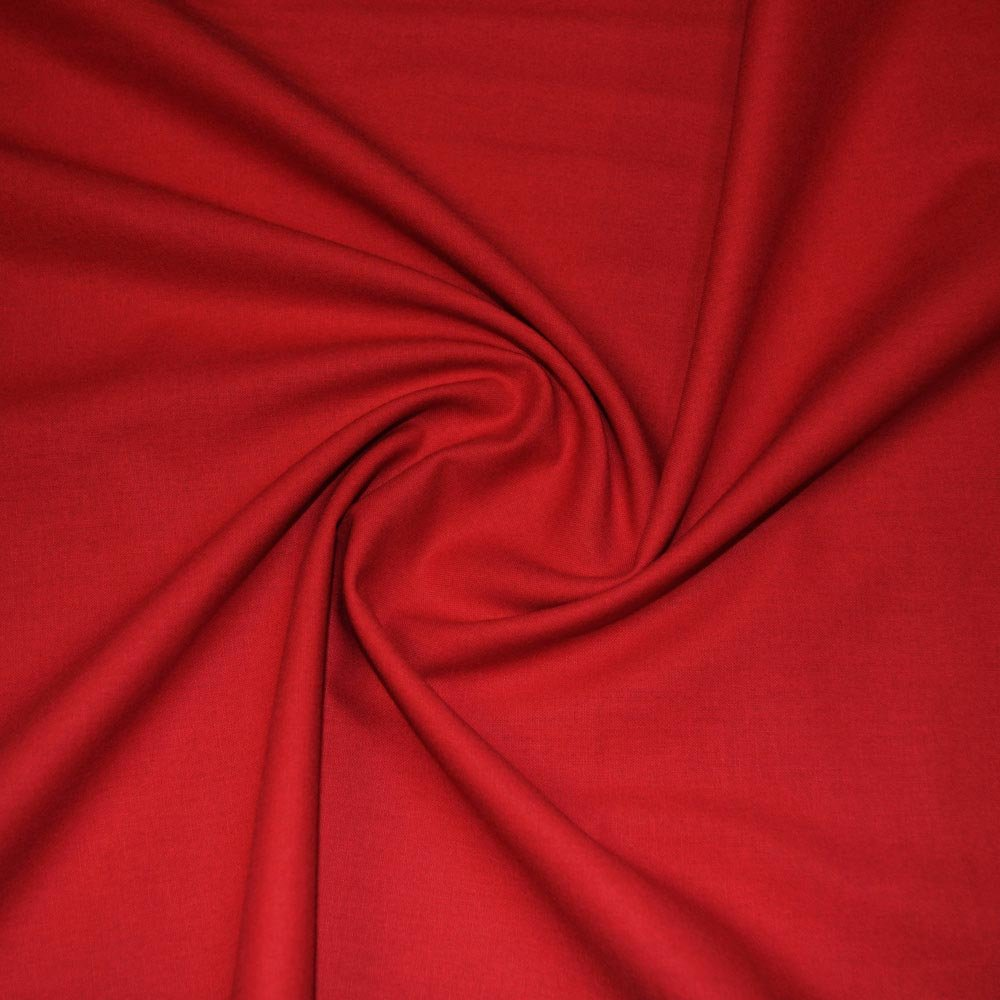 Red Craft Cotton Plain Fabric SKU06792