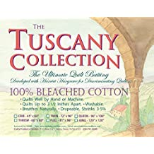 "Hobbs TB96 Batting Tuscany Bleached Cotton, 96"" x 108""/Queen"