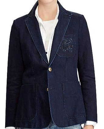 15618ad1e Ralph Lauren Polo Womens Denim Blazer