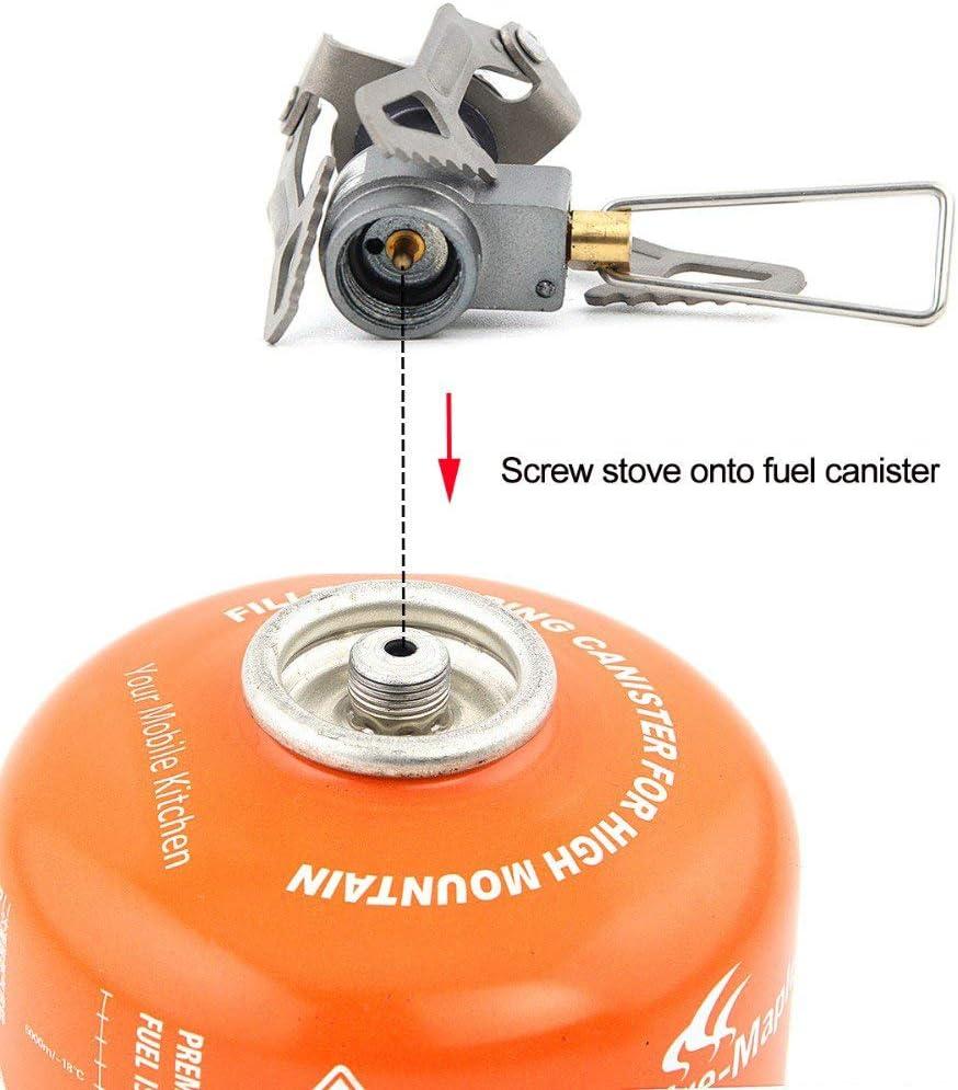 Hamans BRS BRS-3000T - Estufa de gas ultraligera de 25 g con 1 junta tórica de respaldo adicional