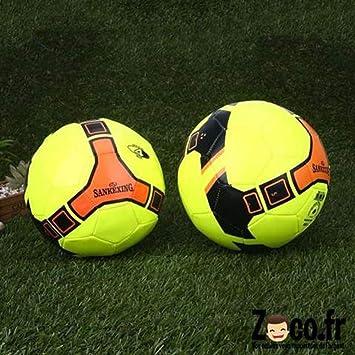 Sankexing neón balón de fútbol Amarillo tamaño 4: Amazon.es ...