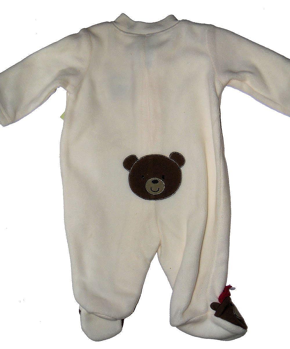 Little Wonder Christmas Bear Winter Fleece Blanket Infant Sleeper Pajamas