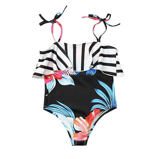 2f903dc858bd4 KLGDA surf Children Kids Girls' Beach Sport Halter One Piece Swimsuit  Bathing Suits Swimwear for