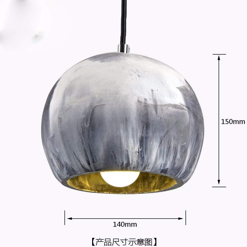 AI Home Vintage Kronleuchter Kreative Home Beleuchtung Persönlichkeit Restaurant Schlafzimmer Wohnzimmer Beleuchtung Zement Zweifarbige Mischung Industrie Retro 140  150 Mm