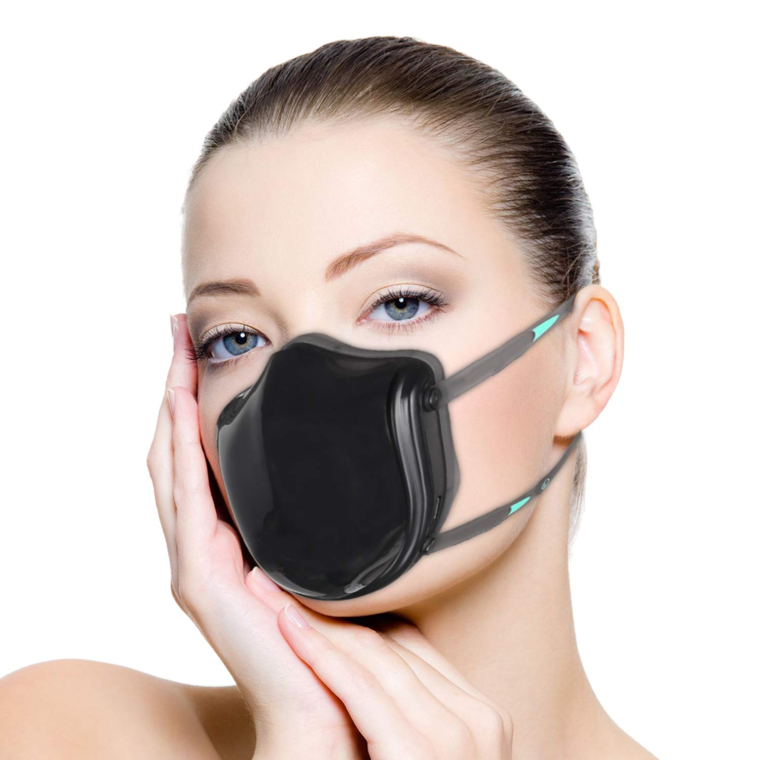 Electric Mask Respirator, Air Purifying Dust proof Mask For PM2.5 Pollution, Gardening, Travel, Ash