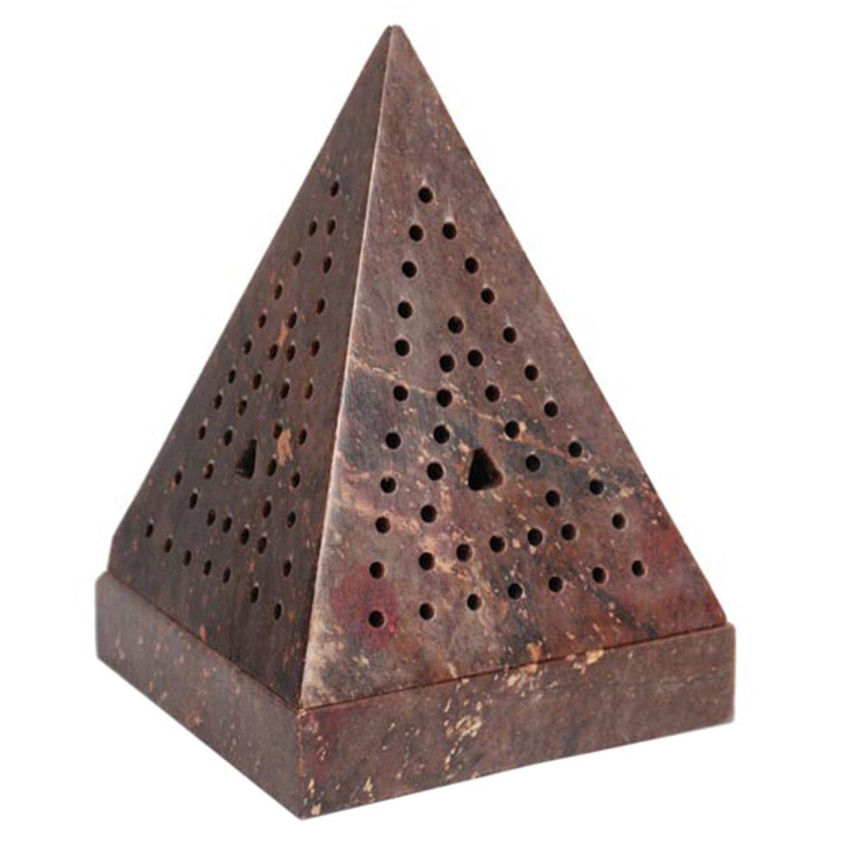 Aromatherapy Hosley 5 High Large Soapstone Triangle Pyramid, Incense Cone Holder. Ideal Gift for Aromatherapy, Zen, Spa, Vastu, Reiki Chakra Settings. O3 HG Global