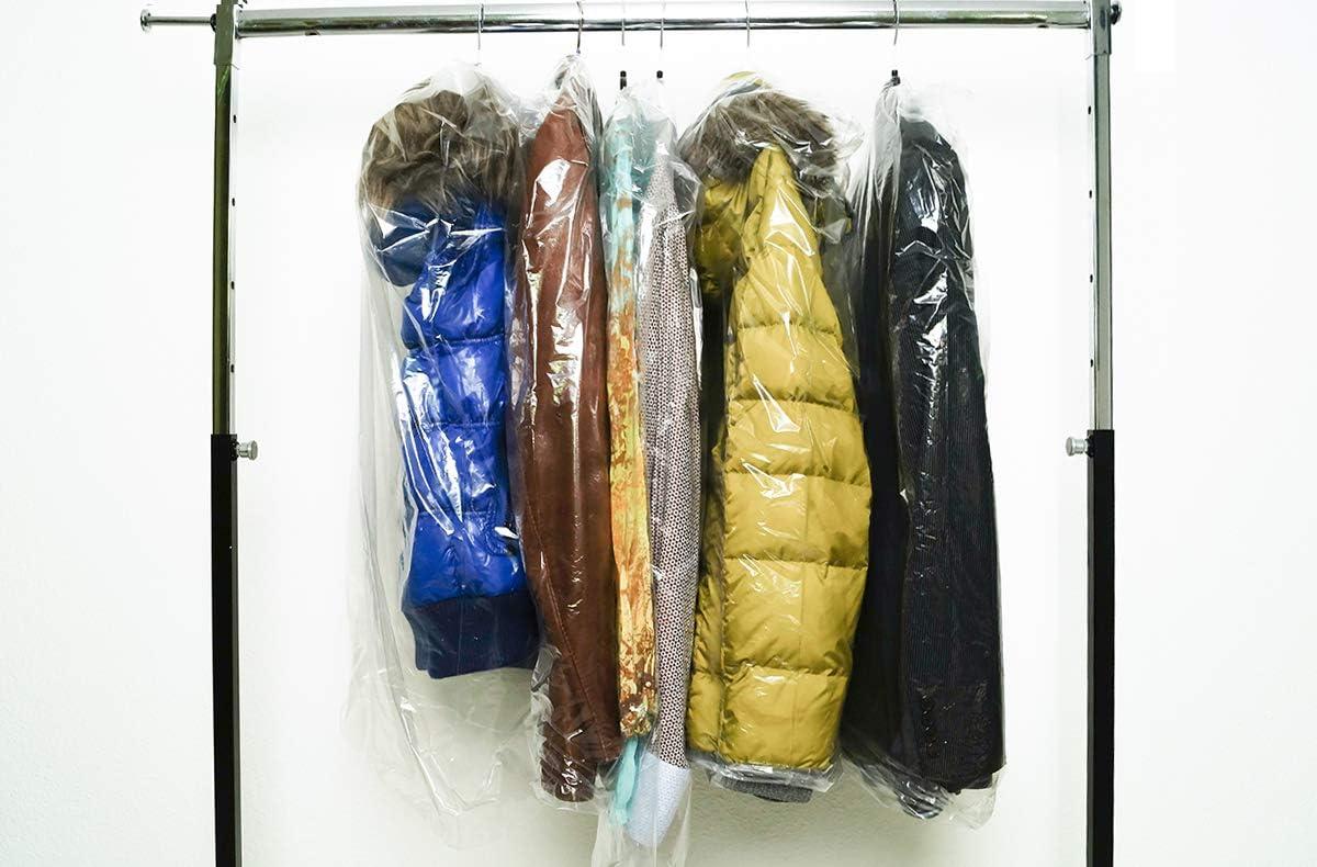 Transparente Kleiders/äcke B/ügelloch Nordwerk 500 Kleiderschutzh/üllen auf Rolle Abrissperforation mit B/ügel/öffnung 90 cm Abri/ßl/änge