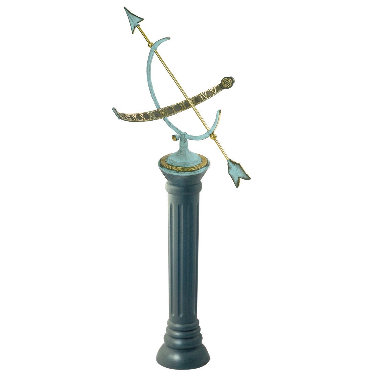 limestone time sundial carved ped lotfinder details ams instruments telling lot a pedestal