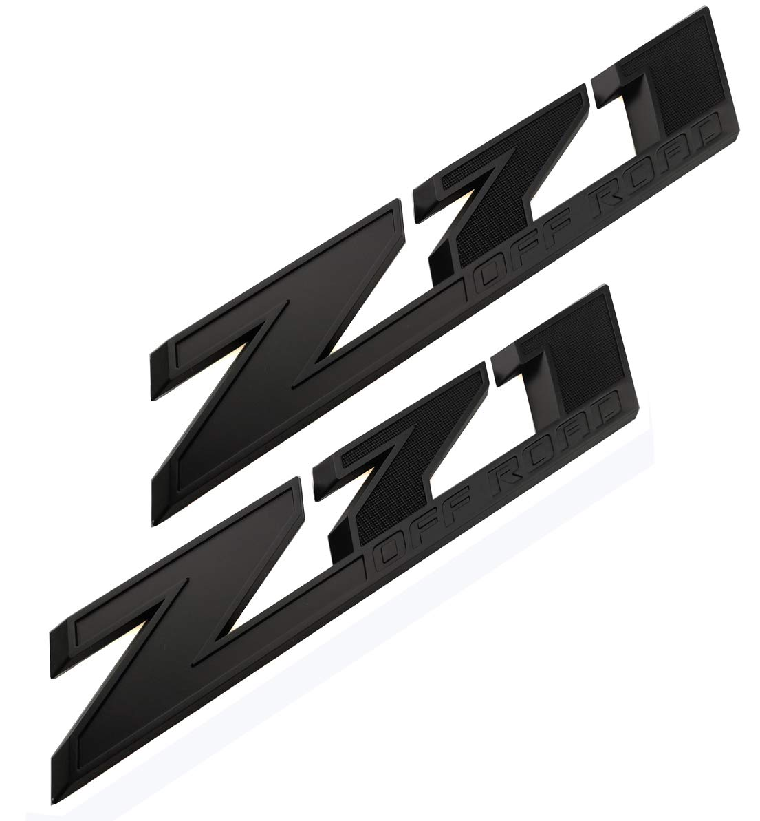Black 2Pack 10.3 Inch Z71 Off Road emblems Decals 3D Badge Compatible for hevy Silverado Colorado GMC Sierra