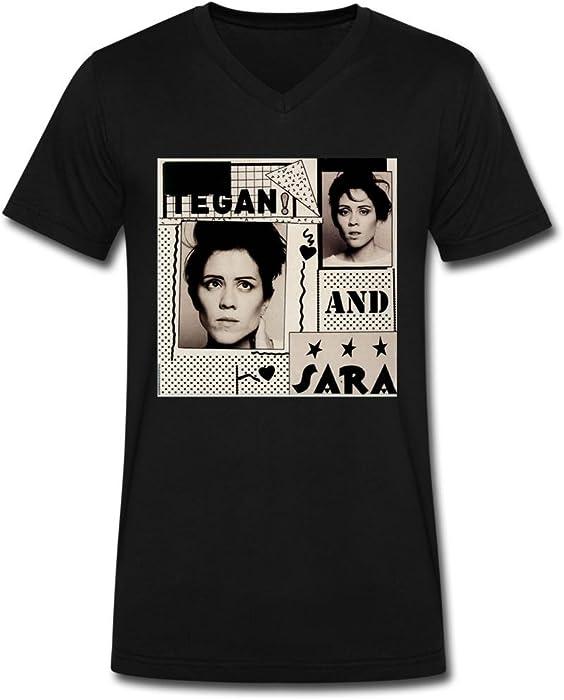aaf7beed Amazon.com: WBG DIY Tegan and Sara tour tee shirt for men Black L ...