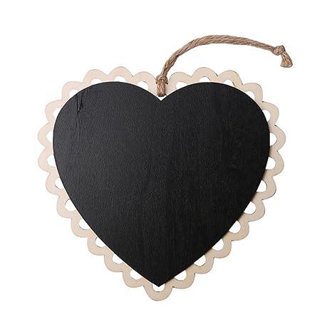 ROSENICE Mini pizarras en forma de corazón pizarra para ...