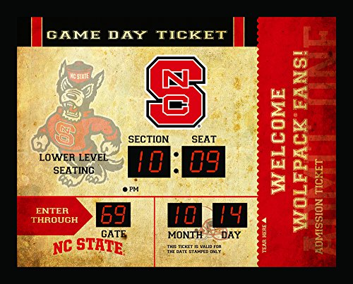 (Team Sports America NCAA Bluetooth Scoreboard Wall Clock, North Carolina State Wolfpack)