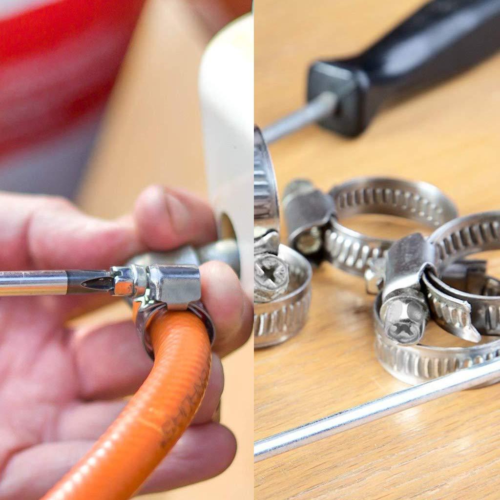 JZZJ 12 Piezas 9-16 mm Abrazadera de Manguera Ajustable Clip de Tubo de Worm Drive de Acero Inoxidable
