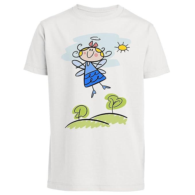 T-shirt diseño ecológico, para niños de 3 a 14 años, diseño de ángel: Amazon.es: Ropa y accesorios