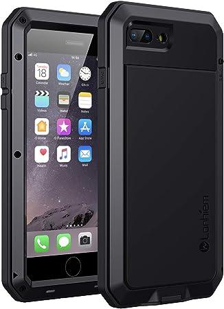 Lanhiem Cover Antiurto Compatibile con iPhone 8 Plus,Cover iPhone 7 Plus[Indistruttibile e Resistente][Supporta la Ricarica Wireless] Protezione dello ...