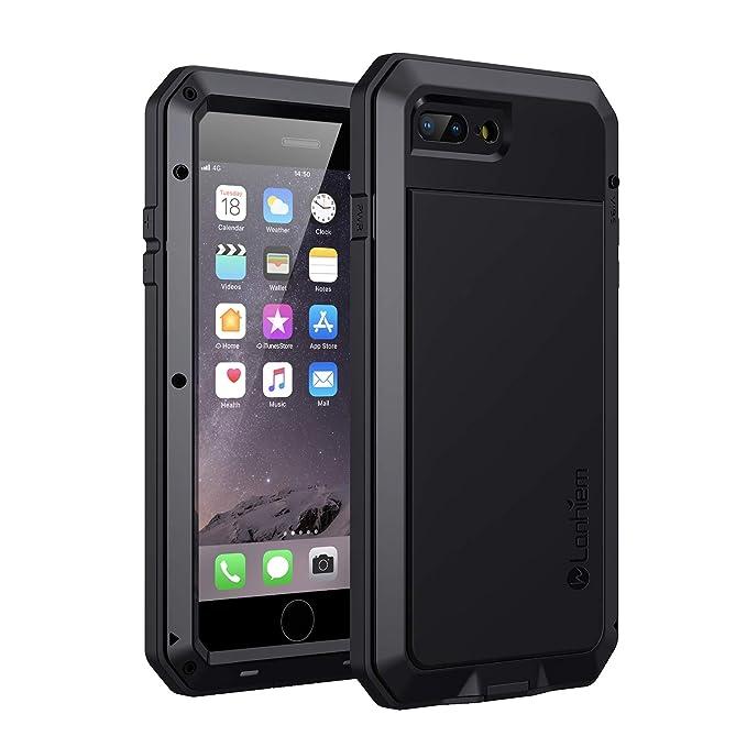 Lanhiem Funda iPhone 7 Plus / 8 Plus, [Rugged Armour] Antigolpes Metal Estuche Protectora, Absorción de Choque y Duradera Fundas con Protector de Pantalla ...
