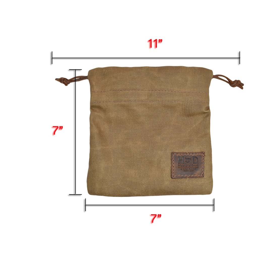 Hide & Drink Waxed Canvas Golf Valuables Field/Travel / Tech/Board Game Dice Pouch Handmade by Fatigue by Hide & Drink (Image #7)