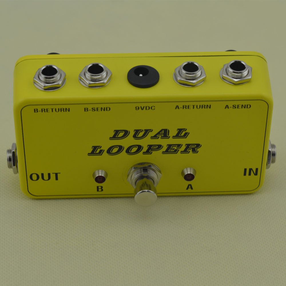 TTONE New True-bypass Looper Effects Pedal Guitar Metal Effect Pedals Switcher True Bypass Dual Loop Switch Yellow