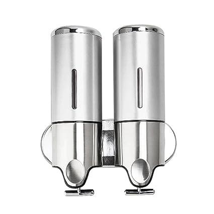 ebilun 500 ml/17oz doble bomba de ducha champú dispensador de jabón líquido montado en